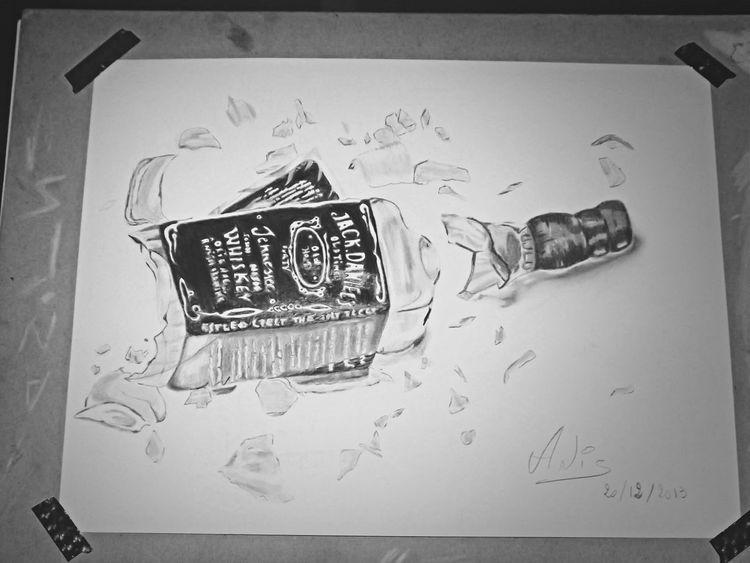 Art, Drawing, Creativity 3D Art Jack Daniels