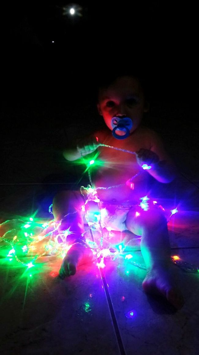 Happy Baby Beautiful Kid Lighted Light Baby Little Baby