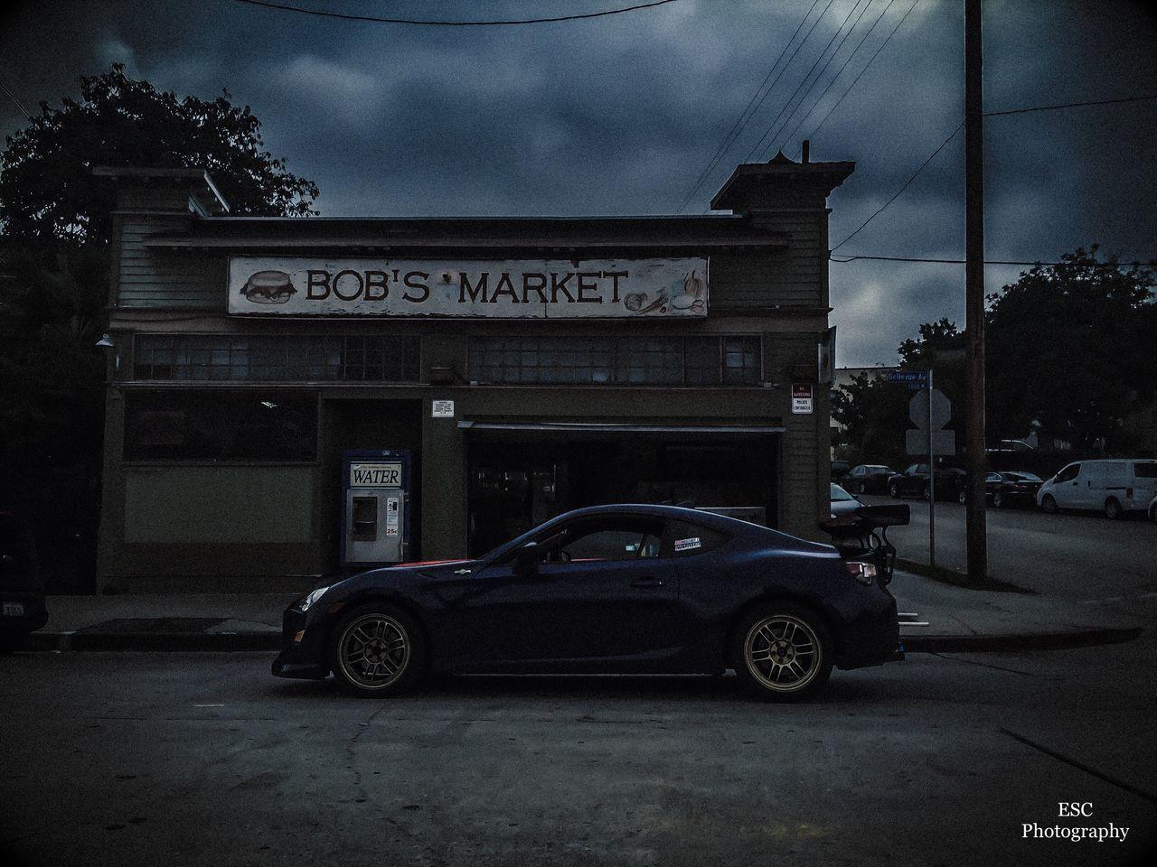 Bobs Market | Toretto's Market | Car Street Outdoors Car Photography Fastandfurious Historical Landmarks History Subaru Scion  FRS Brz MOVIE Built Structure Architecture Photography Photographer Losangeles