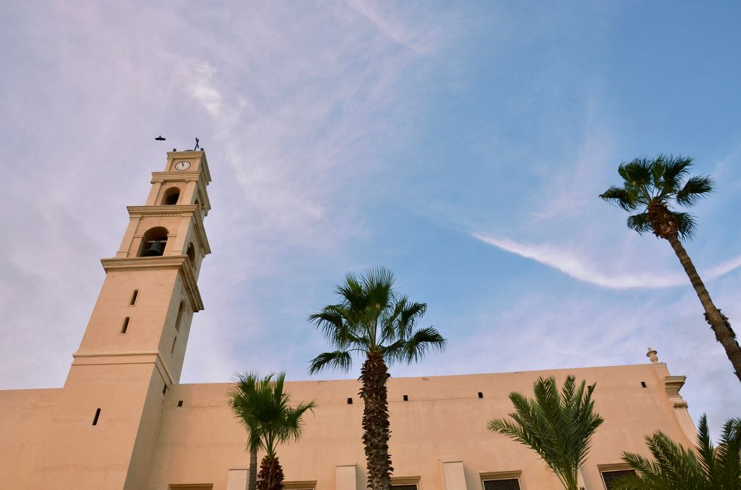 Architecture Church Israel Jaffa Oldcity Oldjaffa Palm Tree Sky