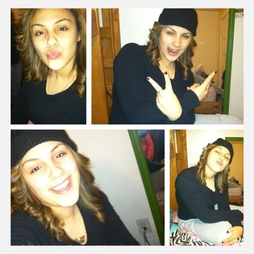 The Cuteness Dawwg !!! #bored #smiles #peace #kissyfaces #byeee