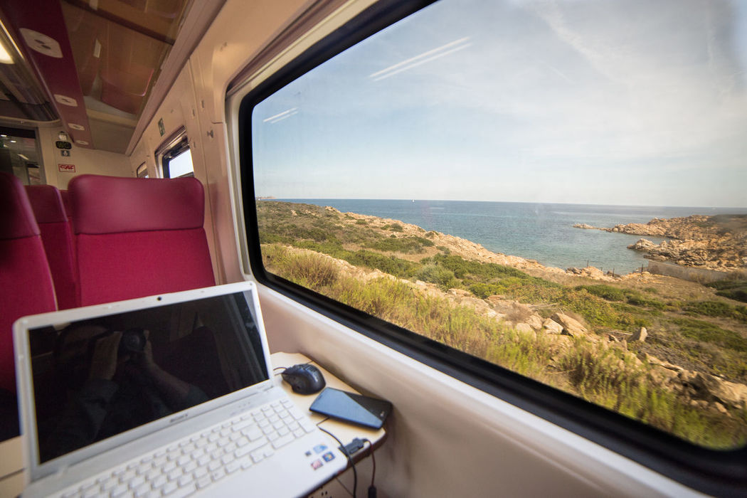 Golfo Aranci Horizon Over Water Italia Italy Olbia  Sardegna Sardinia Sea Train Transportation Travel Window