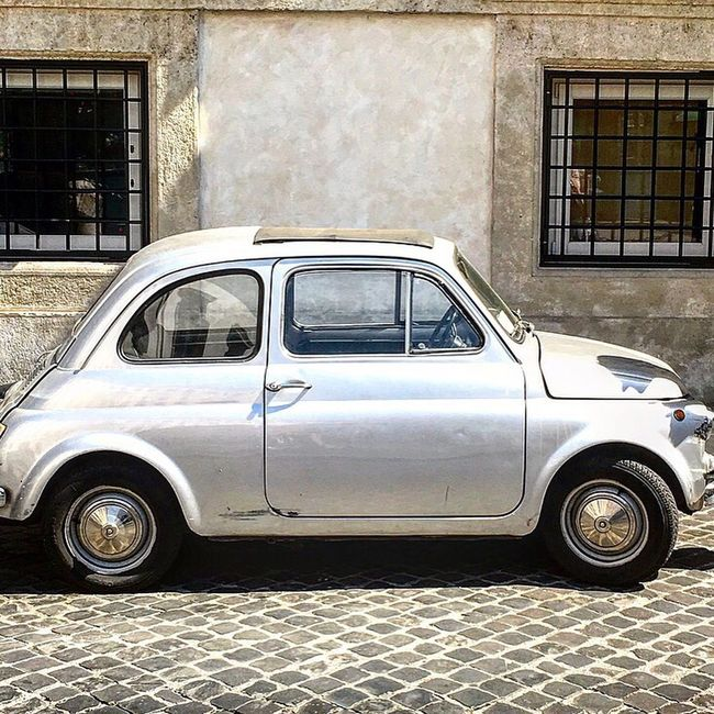 Fiat 500, Rome, Italy Transportation Land Vehicle No People Retro Styled Old-fashioned Stationary Mode Of Transport Building Exterior Car Day Outdoors Obsolete Architecture Pick-up Truck Vertical Fiat Fiat500 Cinquecento Fiatcinquecento Rome Capital City Capital Italy Italia Cars