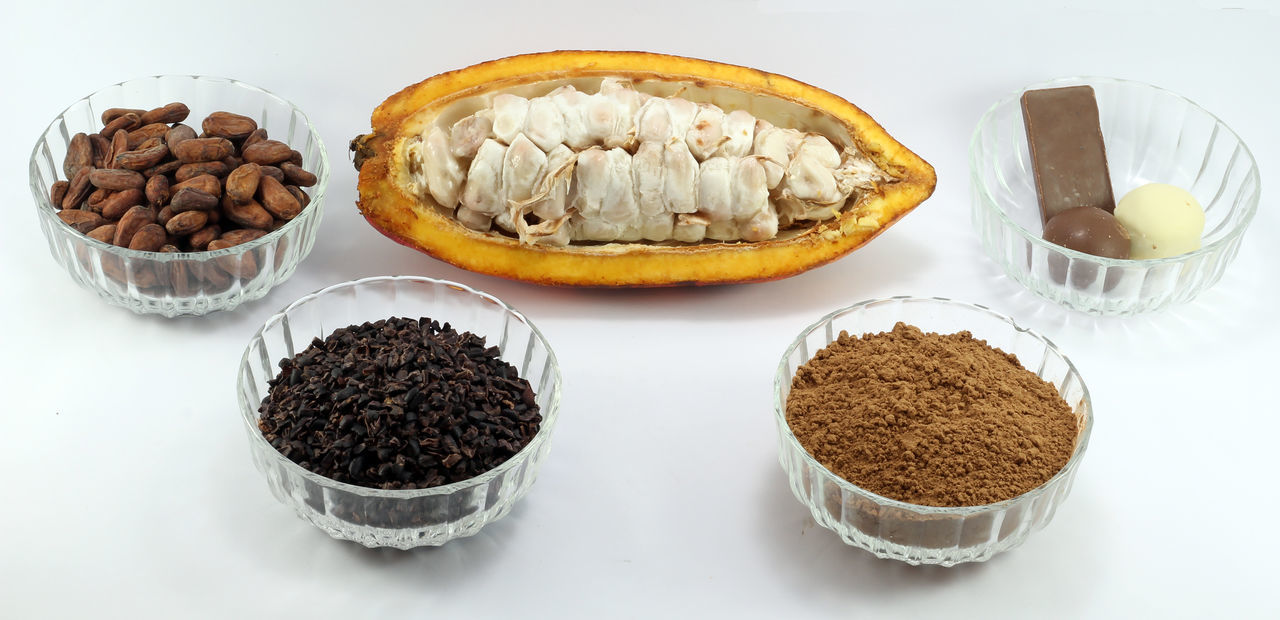 Brazilian Food Cacao Cacao Beans Cacao Frui Cacao Nibs Cacao Nut Dried Fruit Food Food And Drink Freshness Healthy Eating Indoors  No People Nutshell White Background
