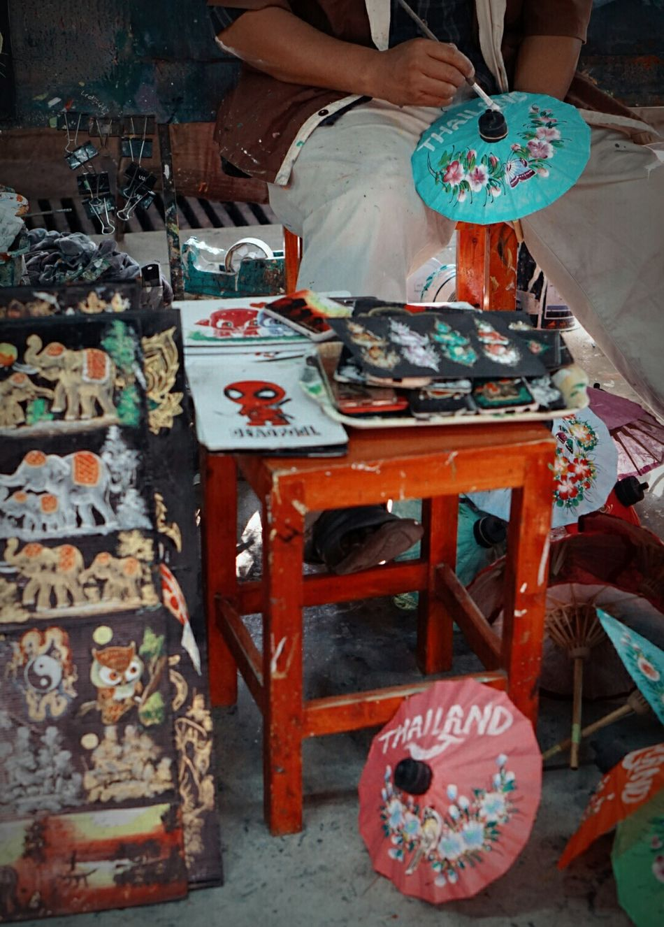 Painting Paint Art And Craft Art Color Drawing Thai Craft Chiangmai Thailand