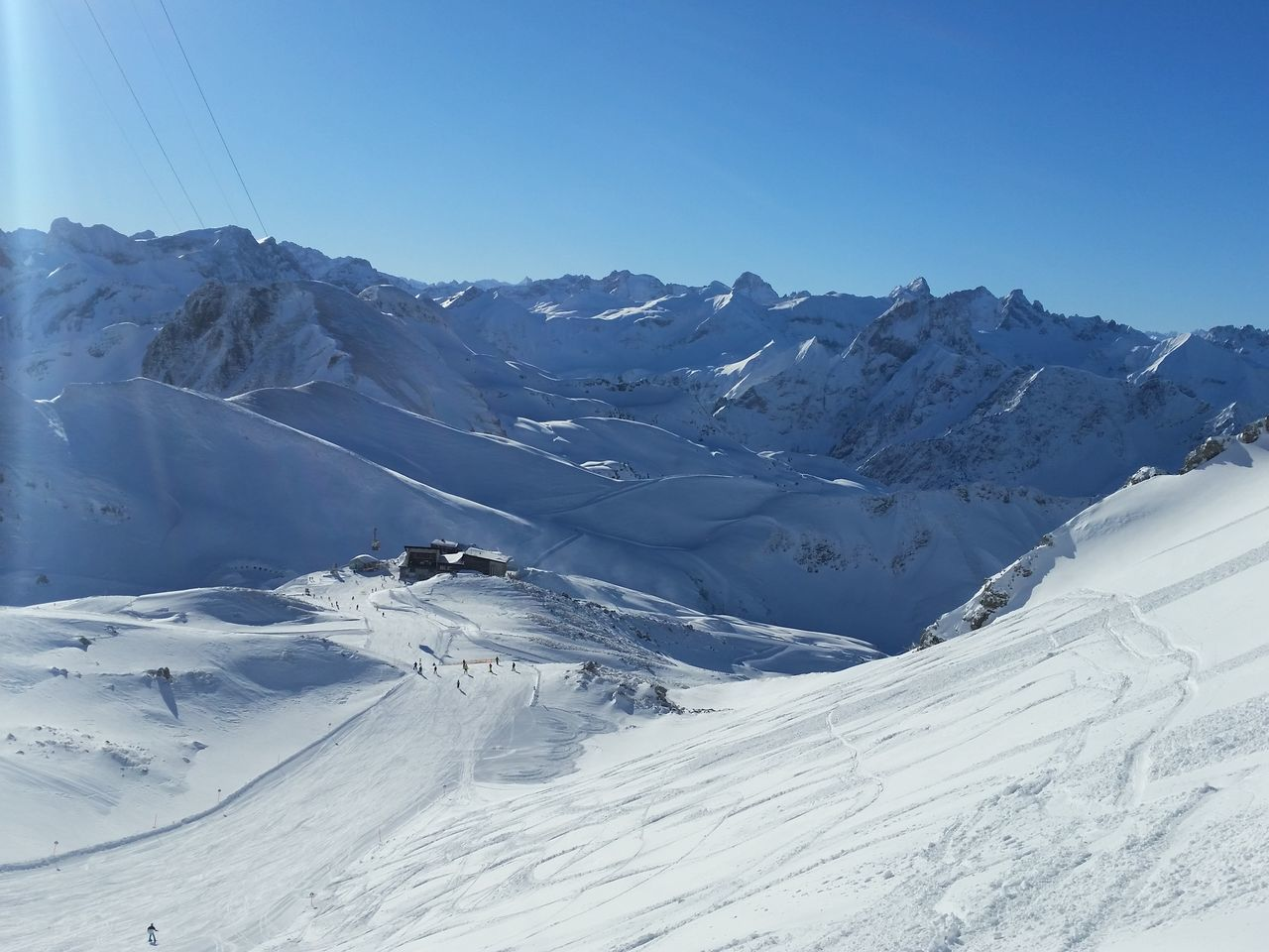 Beauty In Nature Cold Temperature Day Landscape Mountain Nebelhorn Oberstdorf Allgäu Outdoors Skiing Sky Snow Winter