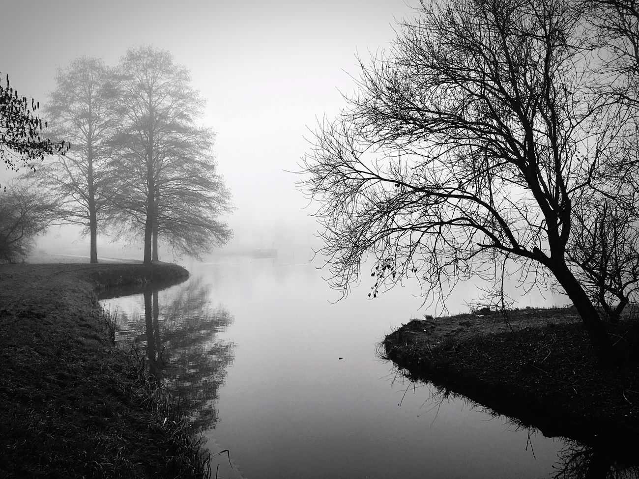 Houten, the Netherlands. Nature Photography River View