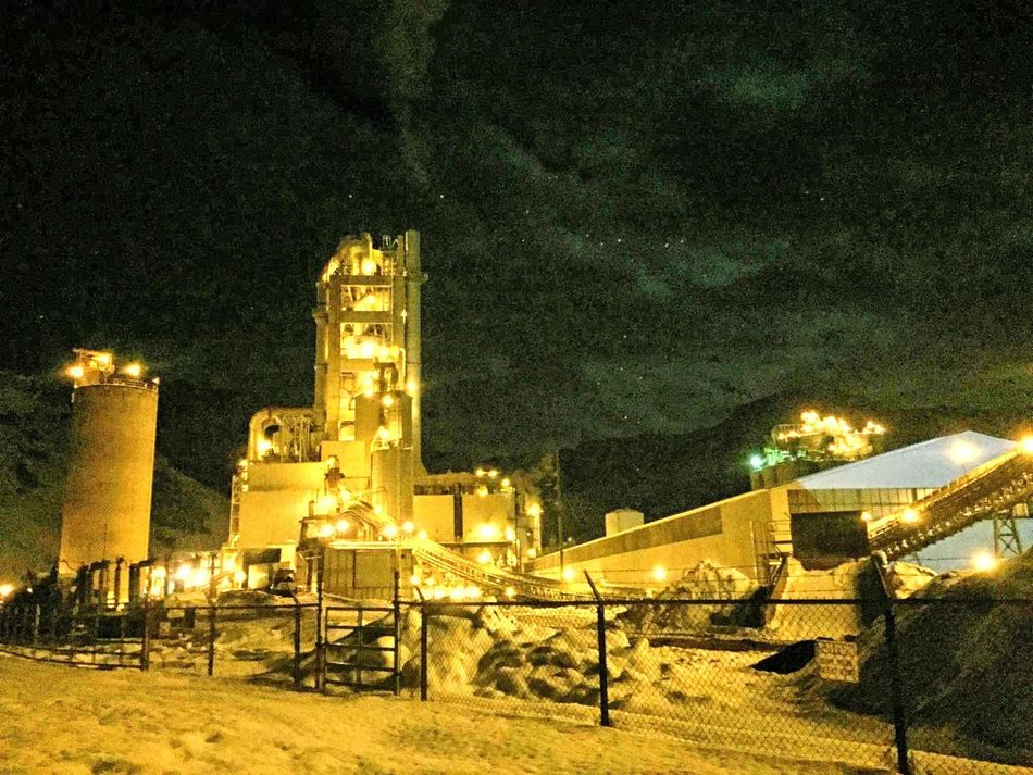 Cement Plant Lights Night Night Time Awesome Original Photo Original Original Photography Original Edits Utah Trippy Intustral Weird Place