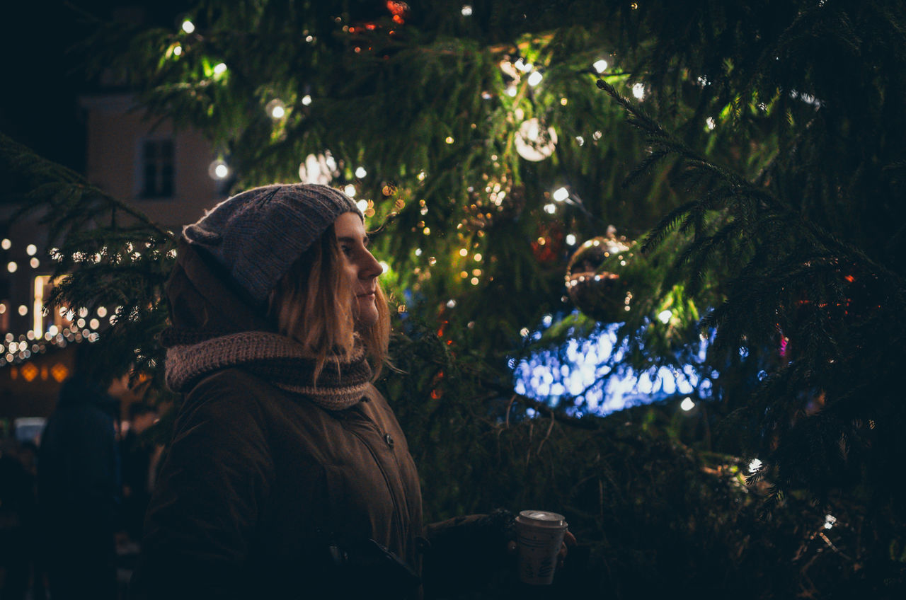 Such a Great Christmas Tree to be marvelled at. Christmas Christmas Holiday Christmas Lights Christmas Market Christmas Spirit Christmas Tree Close-up Cozy Cozy Atmosphere Estonia Evening Girl Night Old Town Outdoors Portrait Raekoja Plats Side View Tallinn Vanalinn Waist Up Young Woman