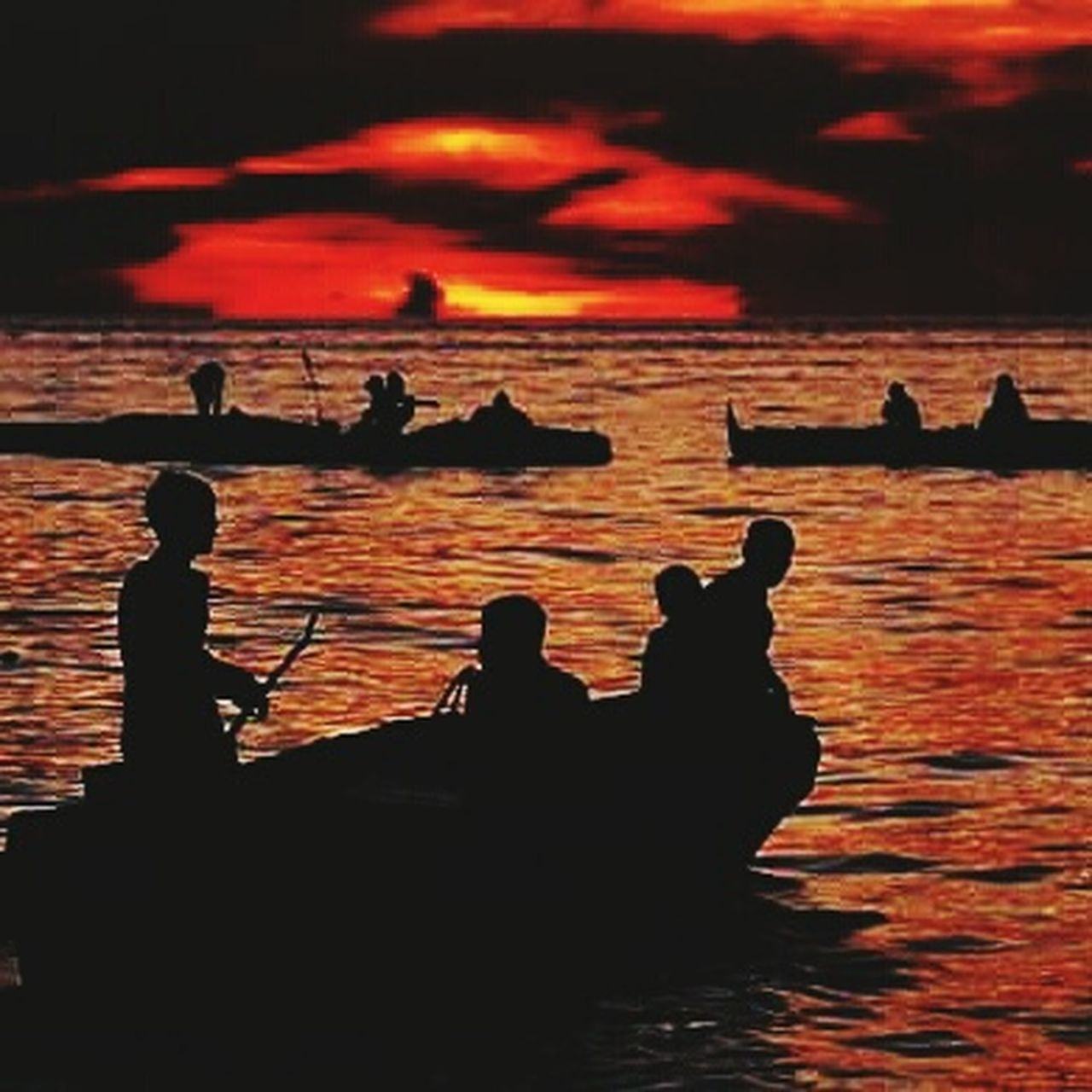 silhouette, sunset, water, sea, nautical vessel, outdoors, travel destinations, scenics, nature, vacations, beach, men, adult, people, beauty in nature, gondola - traditional boat, sky, one person, only men, one man only, day