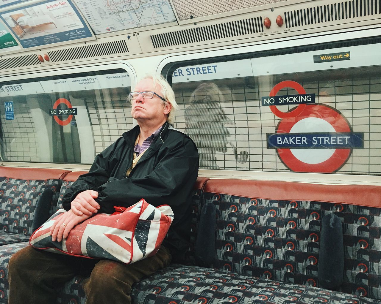 Yeah I'm not that John Watson. One Man Only One Person Public Transportation Indoors  Subway Train People Day NEM Street Shootermag Youmobile Mobile Photography Mobilephotography Travel What Who Where The Street Photographer - 2017 EyeEm Awards