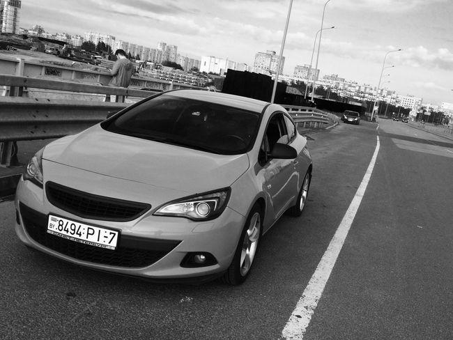Car Land Vehicle Street First Eyeem Photo Lifestyles Opel Astra GTC Blackandwhite