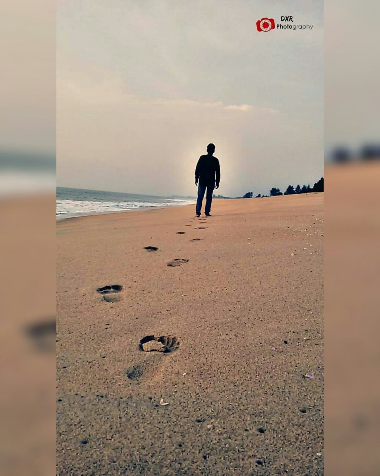 Walk Lonely Beach Time Pass  Dxr_photography