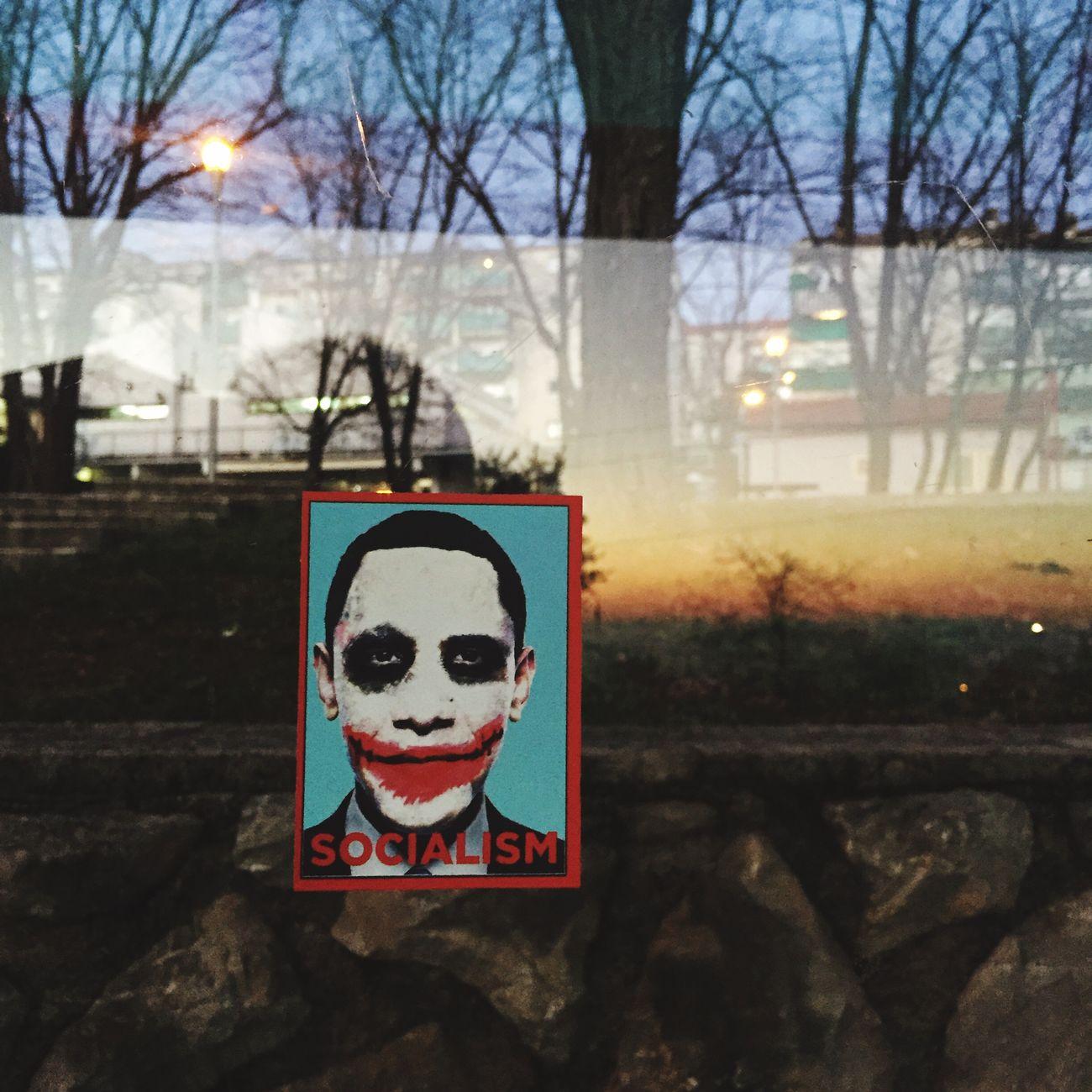 Socialism Obama Joker Thejoker Sticker Modernart