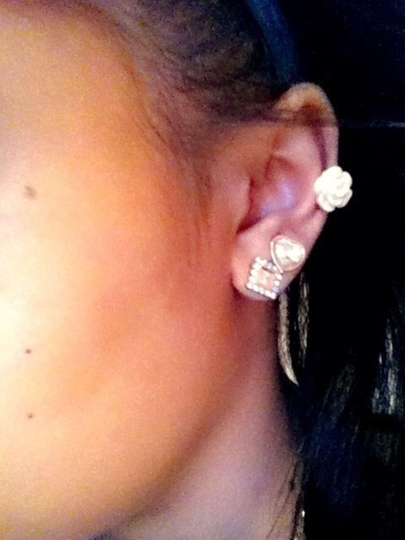 finally re-pierced it