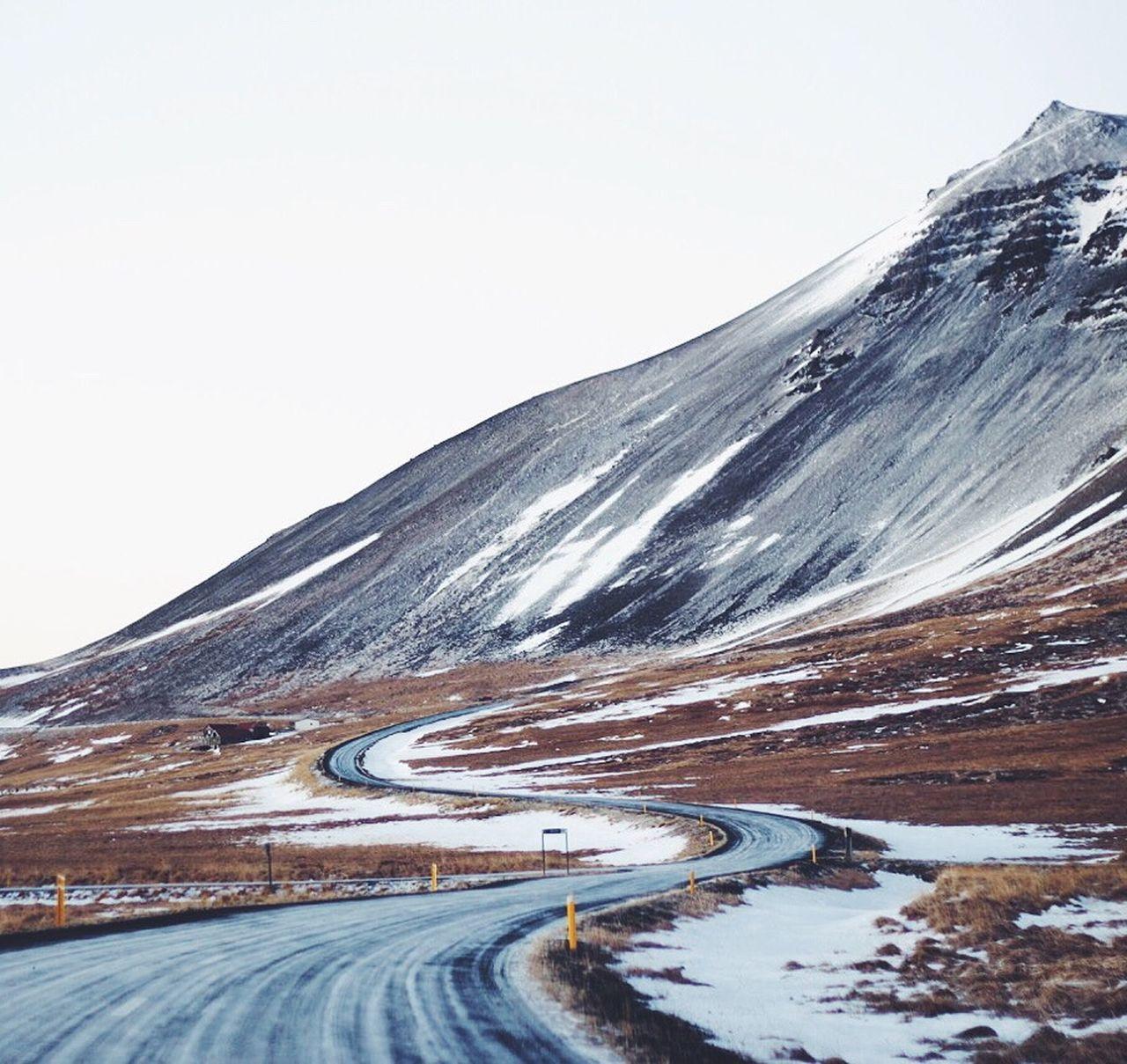 Beautiful stock photos of iceland, transportation, road, snow, winter