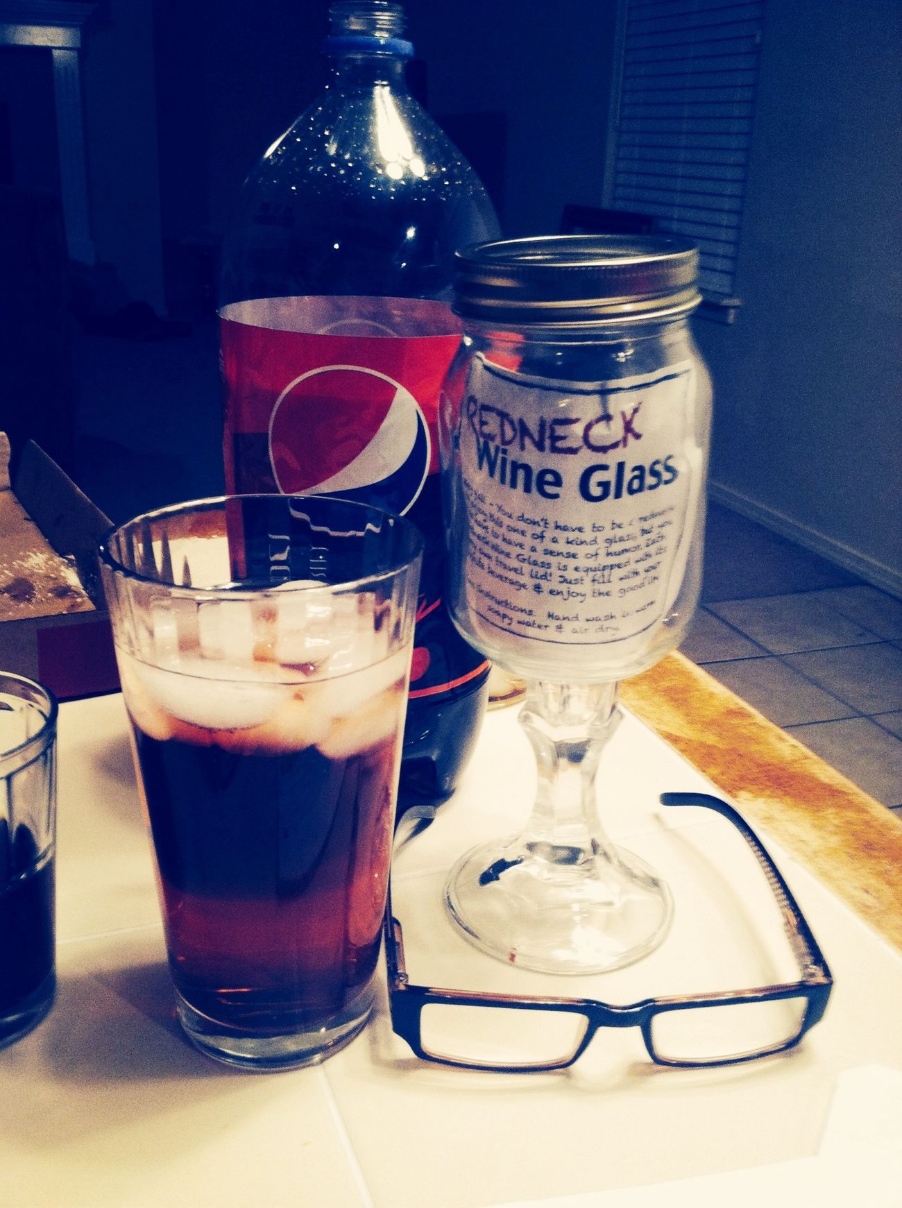 I love wine but I usually try to be classy but look what a friend bought me. Red Neck Games (: Somethingdifferent Just For Laughs (: BeingSilly