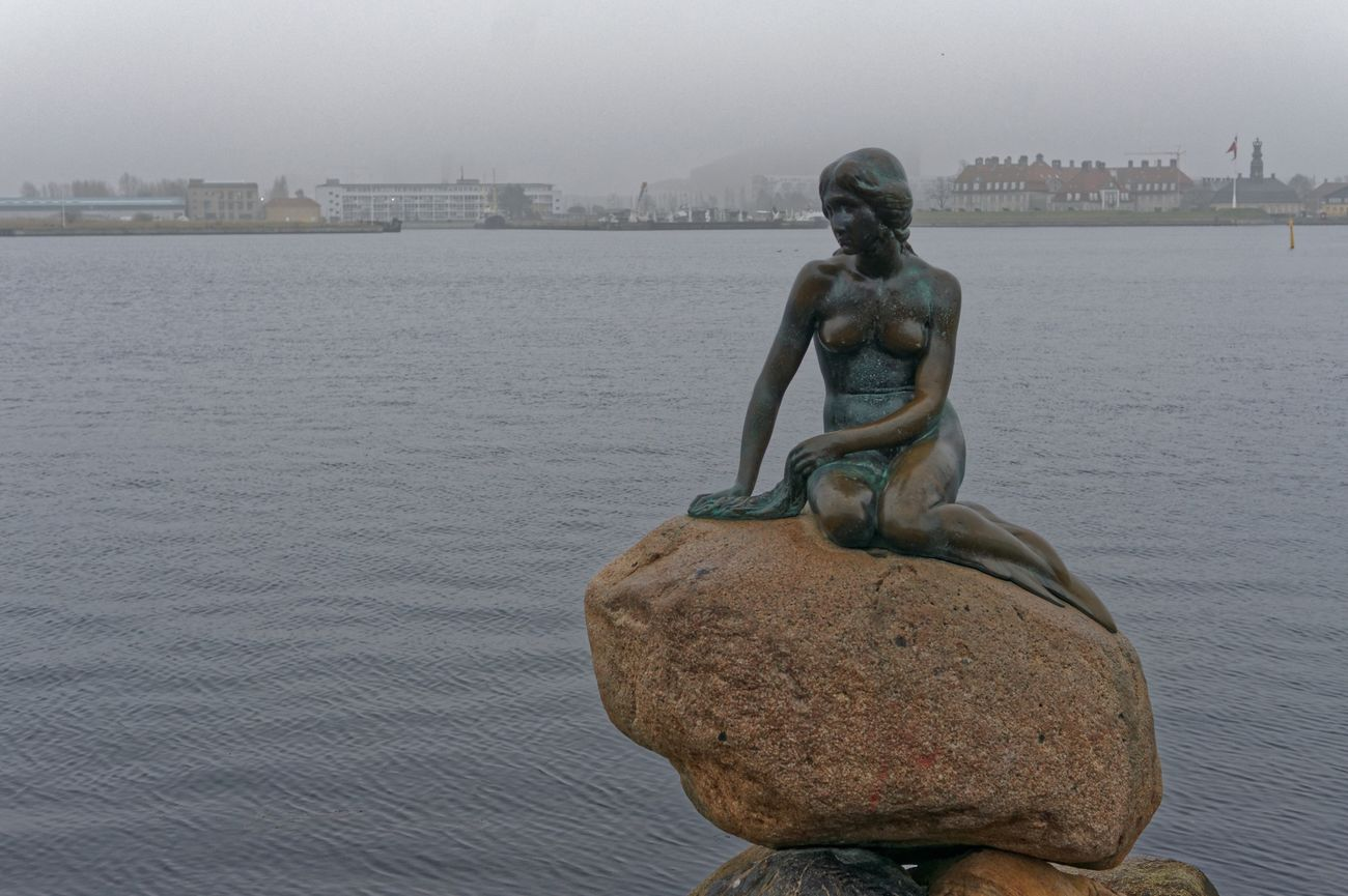 Little Mermaid  Statue Sculpture Human Representation Art And Craft Sky Creativity Water No People Sculpted Outdoors City Cityscape Architecture Day Close-up Nature