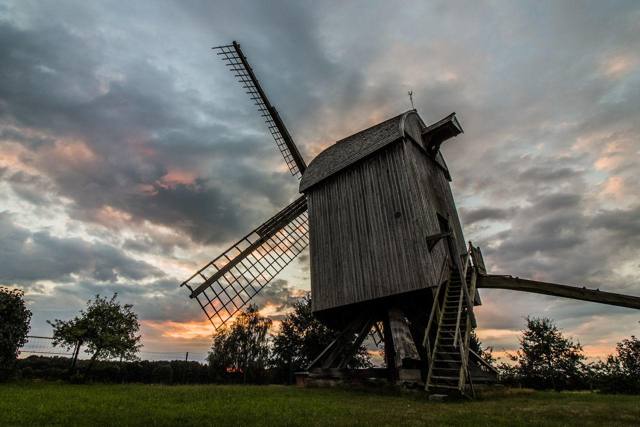 Mühle Petershagen Neuenknick Sunset Evening Mill Bockwindmühle Postmill