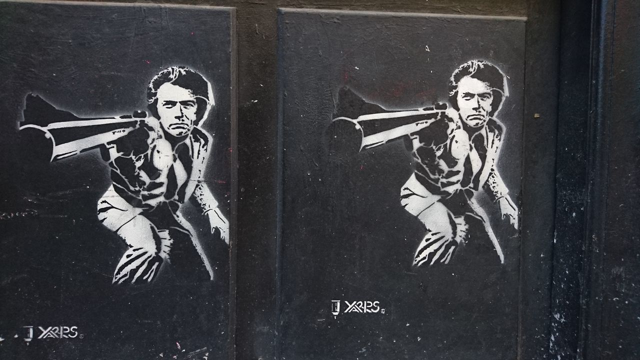 Knock Knock Dirty Harry Pochoir Street Art