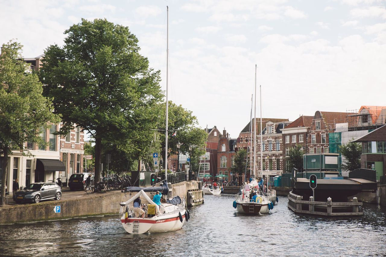 Architecture Haarlem Haarlemse Haarlemse Vaardagen 2017 Architecture Boats Building Exterior Built Structure Canal City Cruise Day Dutch Mode Of Transport Nature Nautical Vessel No People Outdoors River Ships Sky Spaarne Transportation Tree Vaardagen Water Waterfront