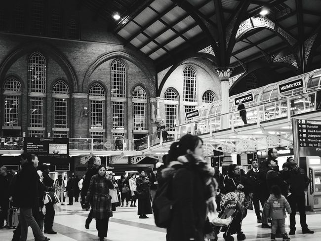 London Liverpool St Rush Hour Station Black And White Streetphotography