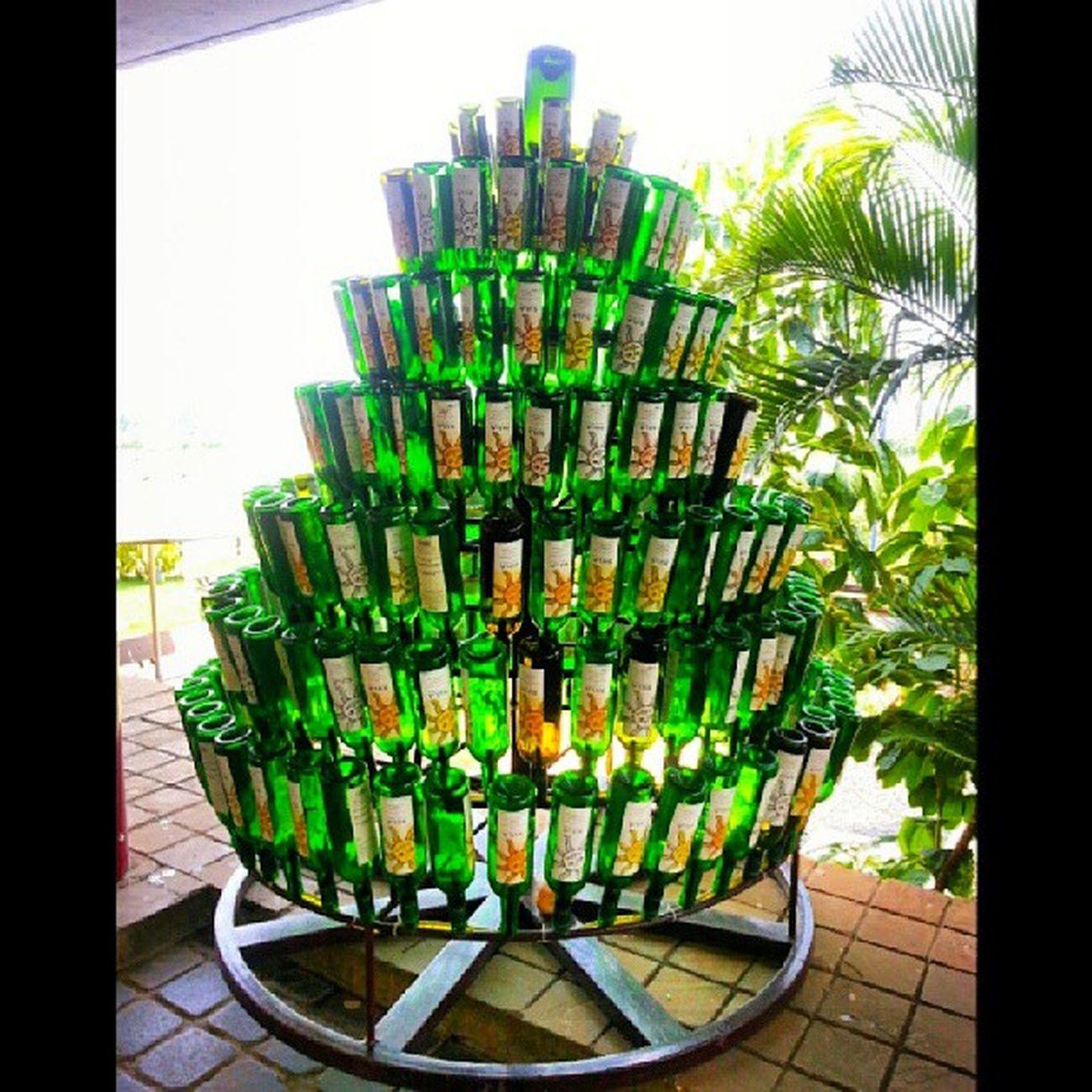 Very Creative use of old Glass bottles Pixoddinary Pixoddinary_c5 igersmumbai trash converted to art