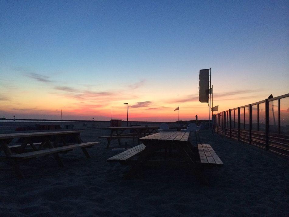 Beach Photography Beach Beachlife Beaches Sunset Sundown Colors Picknickbench