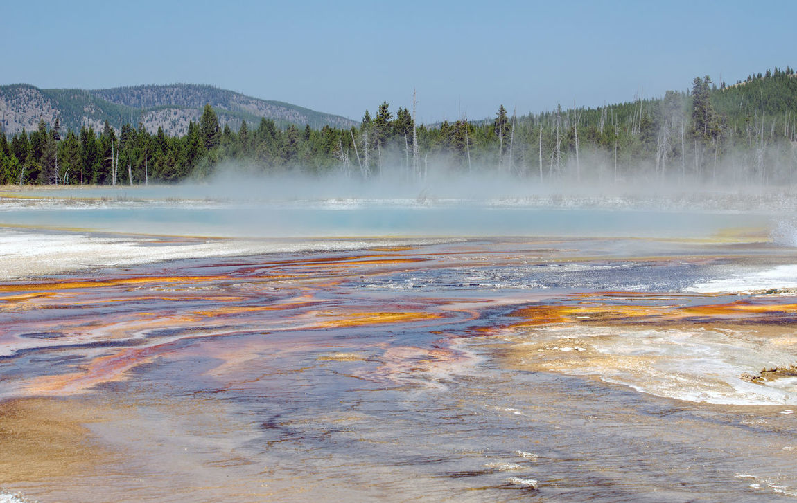 Bucket List Adventures Nature North America USA Upper Geyser Basin Yellowstone National Park Beauty In Nature Eruptions Fragile Landscapes Geysers Nature Outdoors Travel Destinations Vacation Volcanic Landscape Water West Yellowstone