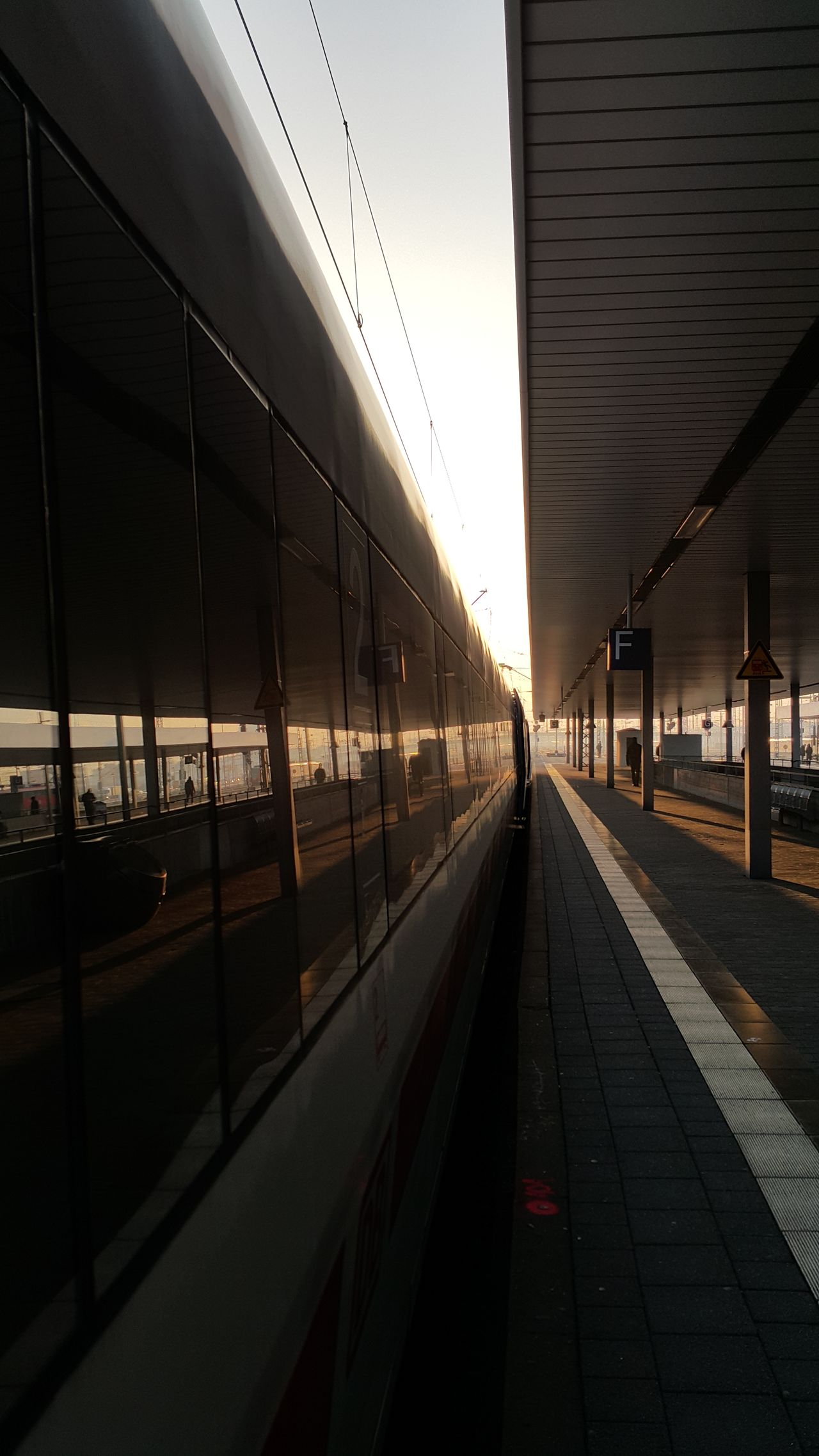 Built Structure Architecture Railroad Station The Way Forward Sunrise Train Train Station ıce On My Way On My Way To Work Morning Morning Light Mannheim City Day Transportation Public Transportation Train - Vehicle Railroad Station Platform