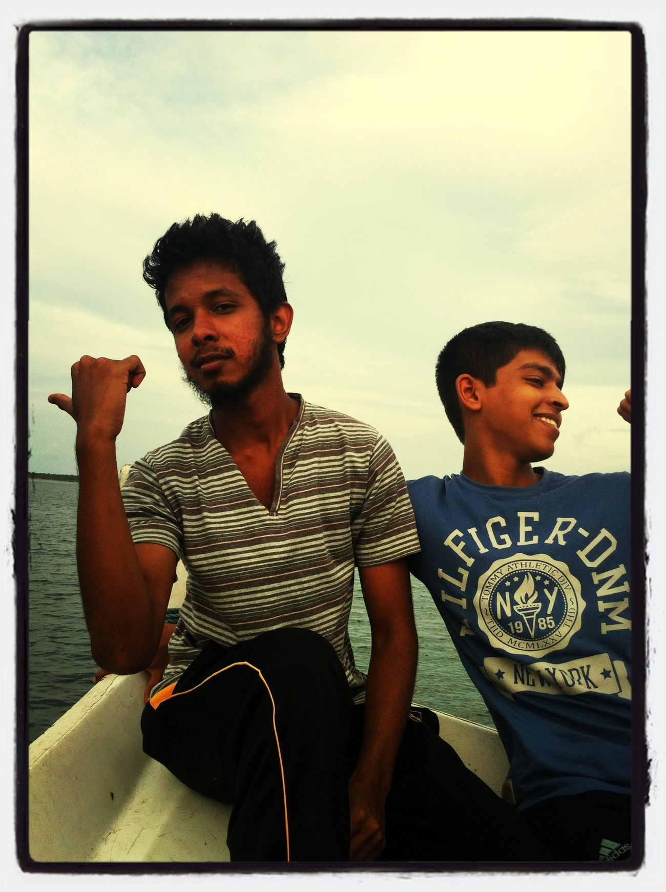 Me and Masina on the boat