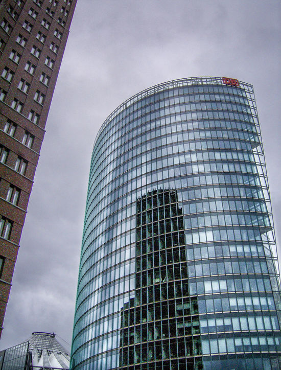 Architecture Architecture Architektur Architettura Berlin Berlino Building Exterior Built Structure Cloud - Sky Day Deutschland Germania Germany Grattacieli Grattacielo Low Angle View Modern No People Office Block Outdoors Potsdamer Platz Sky Skyscapers Skyscraper Wolkenkratzer