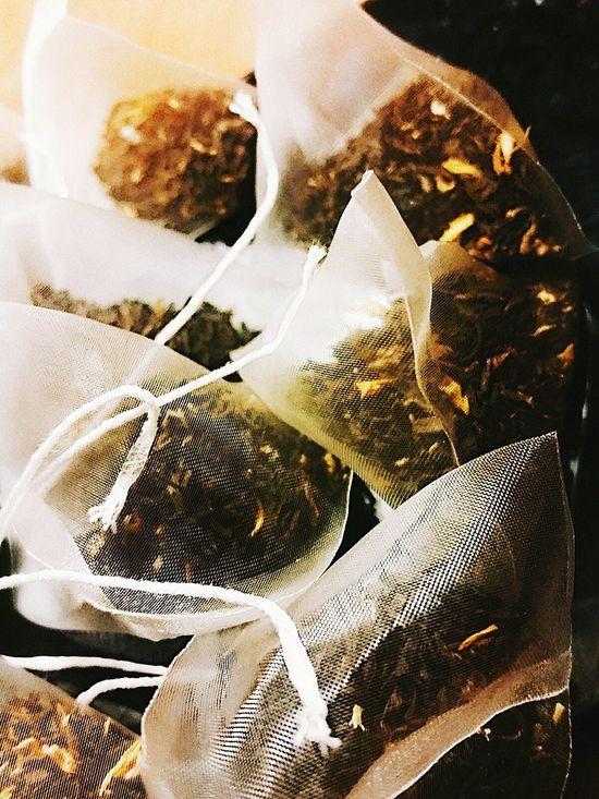 Teatime Teabags Black And Vanilla Food Porn! No People Close-up Indoors