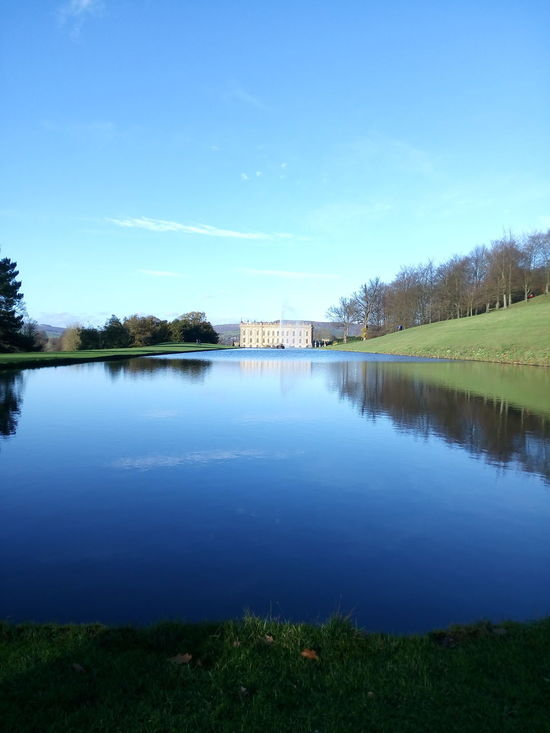 Chatsworth house Reflection Blue Water Lake Outdoors Tranquility Reflection Lake Countryhouse Manor House EyeEmNewHere