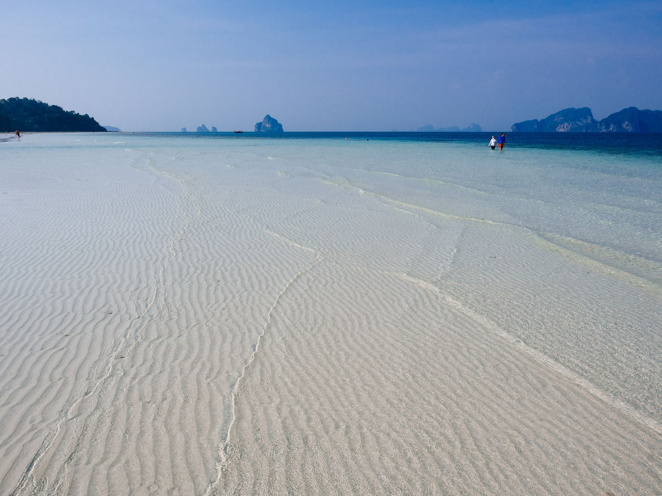The beach at Koh Kradan Beach Beauty In Nature Day Horizon Over Water Landscape Nature Outdoors Sand Scenics Sea Sky Thailand Tranquil Scene Tranquility Travel Destinations Water