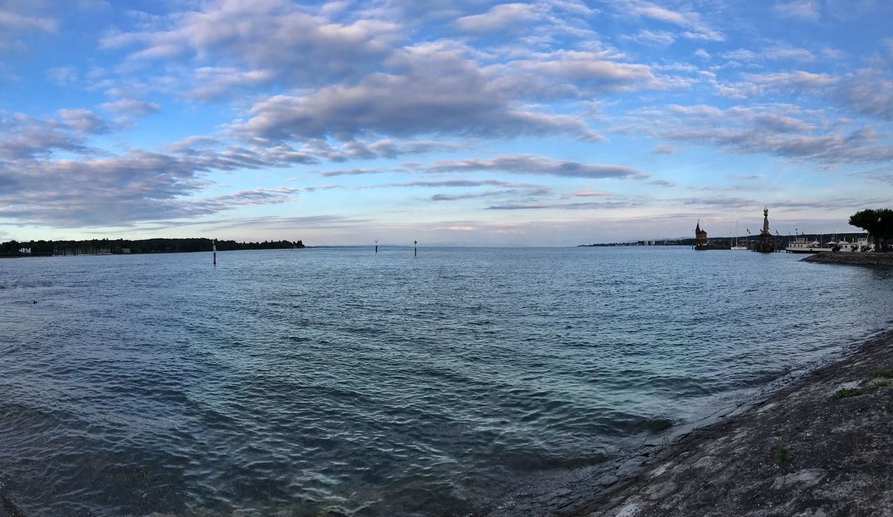 Sky Cloud - Sky Water Sea Scenics Tranquil Scene Beauty In Nature Nature Outdoors Tranquility No People Rippled Built Structure Architecture Sunset Day Building Exterior Nautical Vessel Horizon Over Water Bodensee