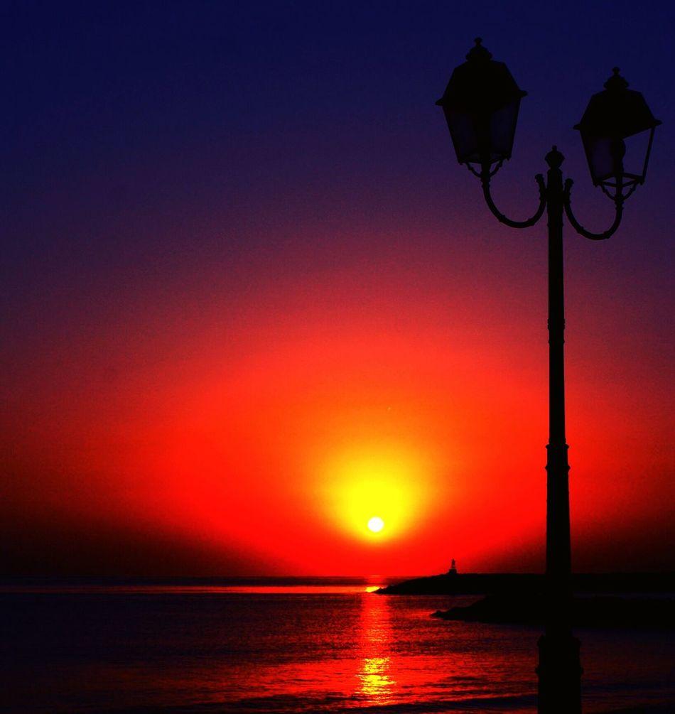 Hi! Taking Photos Sunrise Silhouette Lighthouse