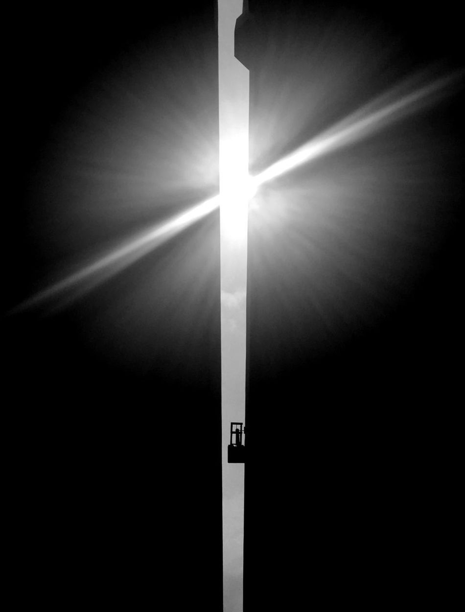 Blackandwhite Blackandwhite Photography Monochrome Lens Flare Gap Art Art Is Everywhere Fine Art Photography Urban Geometry Abstract Photography Sunlight Light In The Darkness Silhouette Urban Skyline Contrast Shape Escape Low Angle View Day No People Break The Mold