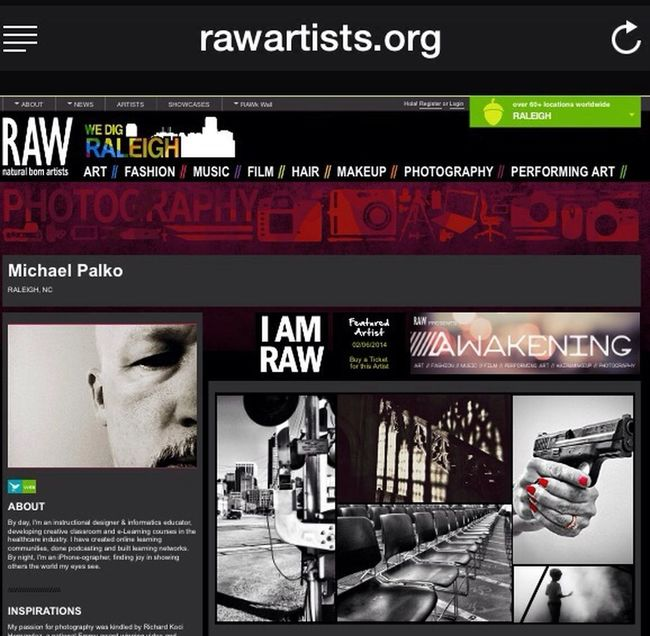 "I'll be a featured artist at the first RAW Artists event of 2014 at the Lincoln Theater in Raleigh. Get your tickets now, then come say ""hi!l https://www.rawartists.org/mpalko Check This Out AMPt_community AMPTeam.org"