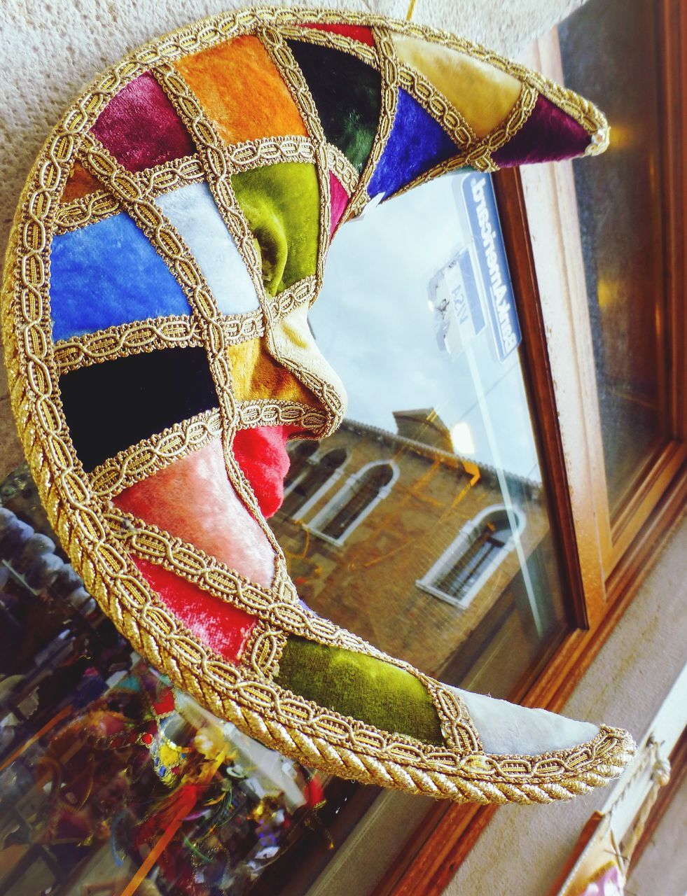 mask - disguise, venetian mask, carnival - celebration event, cultures, day, tradition, celebration, indoors, no people, multi colored, gondola - traditional boat, close-up, carousel