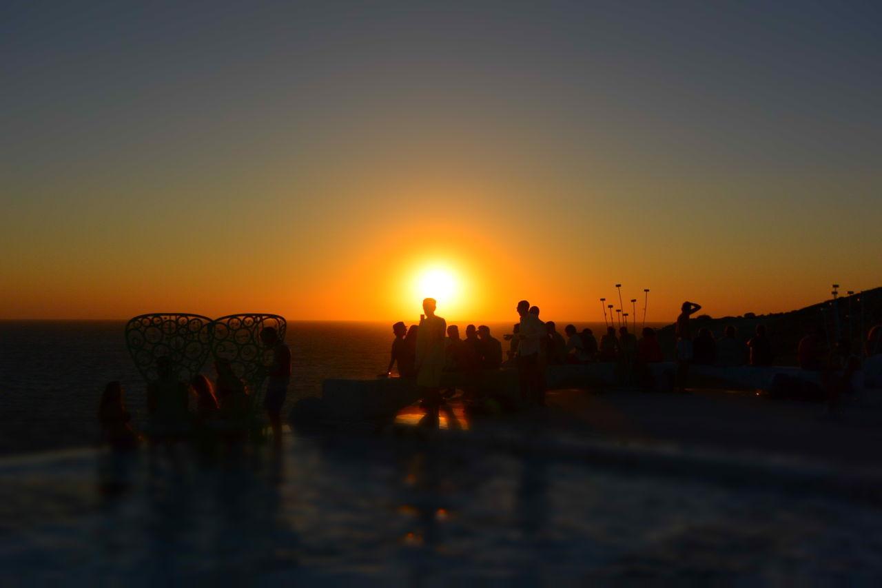Watching The Sunset Sea Pathos Beautiful Ios Greece
