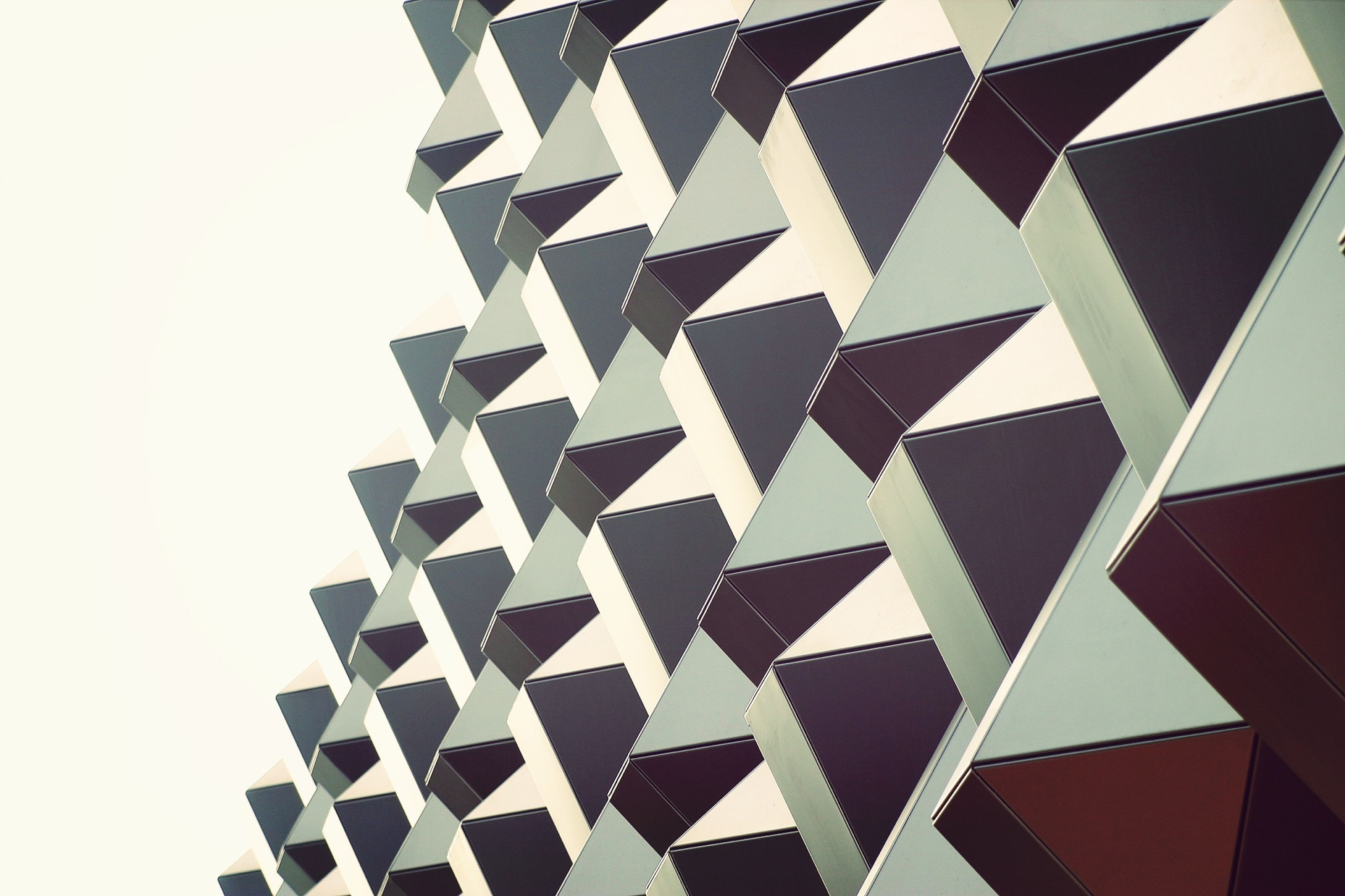pattern, design, architecture, repetition, backgrounds, full frame, built structure, low angle view, geometric shape, shape, indoors, in a row, modern, building exterior, architectural feature, no people, abstract, ceiling, textured, close-up