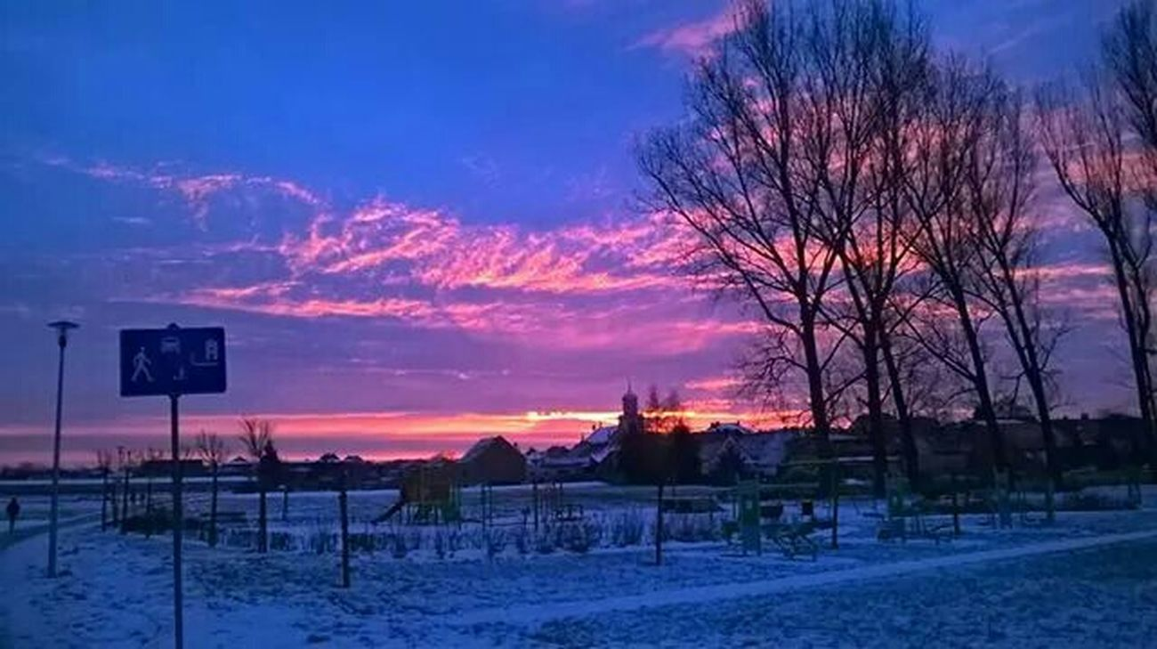 Beautiful Sunrise Beautiful Views Beautiful Nature Snow ❄ Winter Morning
