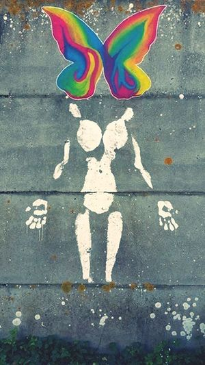 """""""son aspect éphémère en fait tout son charme"""" Peinture Ephemeral Wall Wall Art Betterfly Colors Color Portrait Color Explosion Garden"""