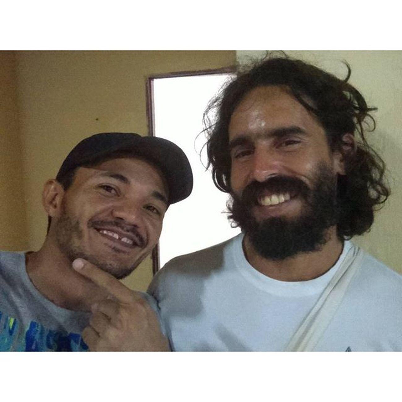 Com meu parceiro, Bernardo . Show de bola, o rolezinho de ontem. ✌👍