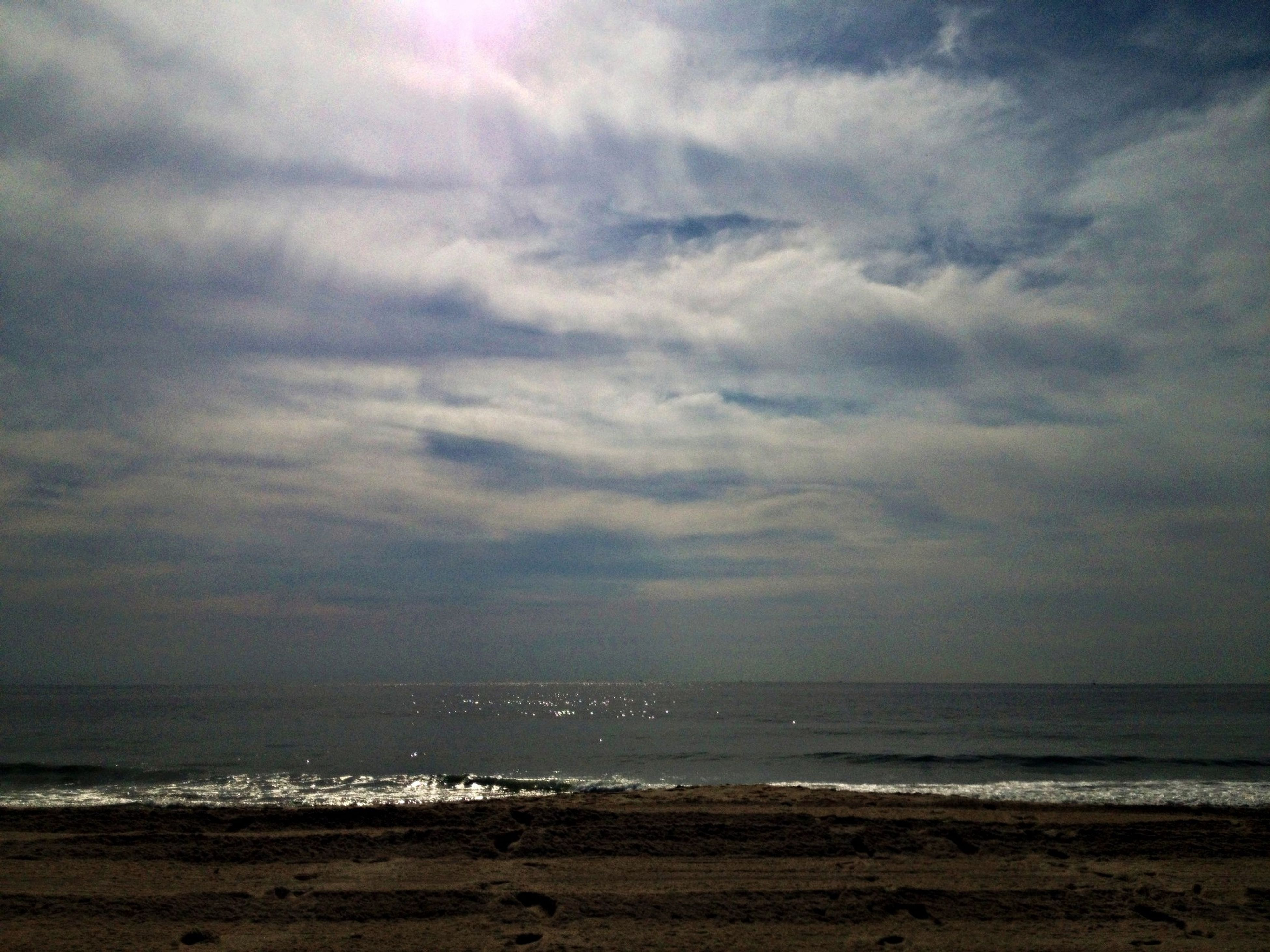 sea, horizon over water, beach, sky, water, shore, tranquil scene, scenics, tranquility, beauty in nature, cloud - sky, sand, nature, cloudy, idyllic, cloud, wave, coastline, remote, outdoors