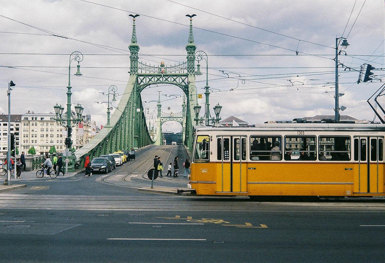 Budapest tram Bridge Built Structure City Connection Mode Of Transport Public Transportation Tram Transportation Leica M7 Film 35mm Film Photography The Film Files