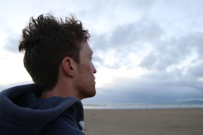 Adventure Beach Cloud Cloud - Sky Explore Hair Male Malemodel  Model Ocean Serious Sweatshirt