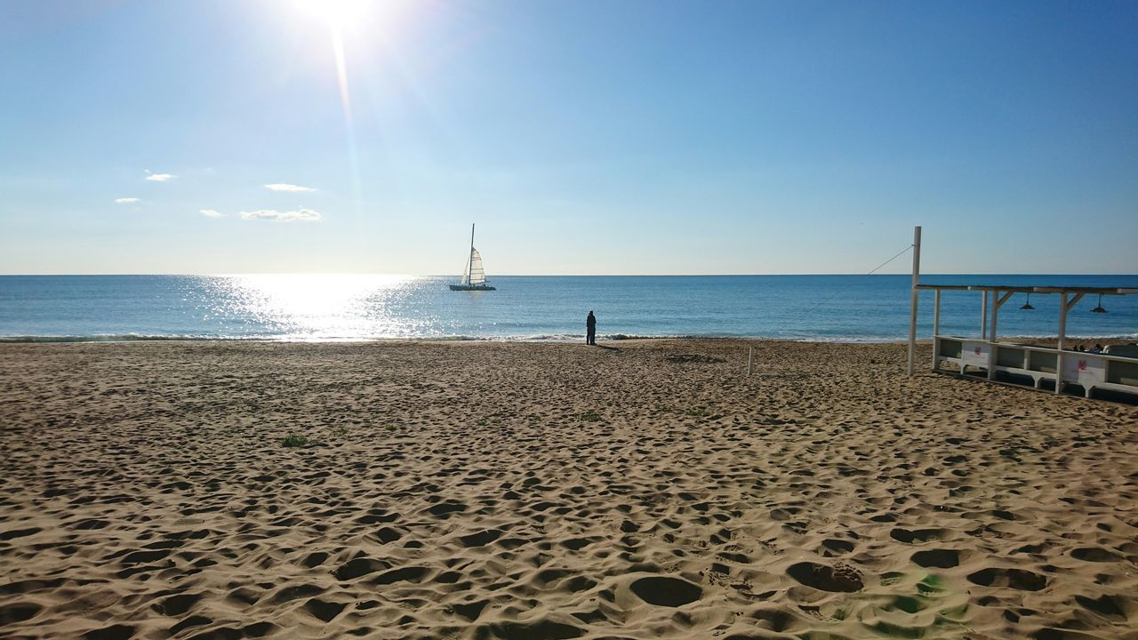 sand, beach, sea, water, sun, sunlight, nature, horizon over water, beauty in nature, sky, scenics, outdoors, tranquility, day, no people