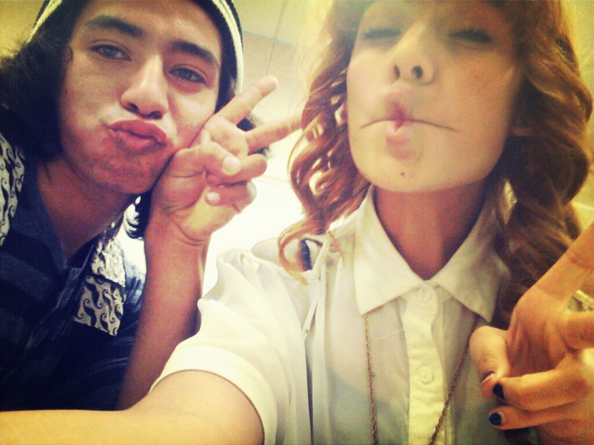 my homeboy Ricky c: were in 6th period. bored we cute fish&duck lips face. <3
